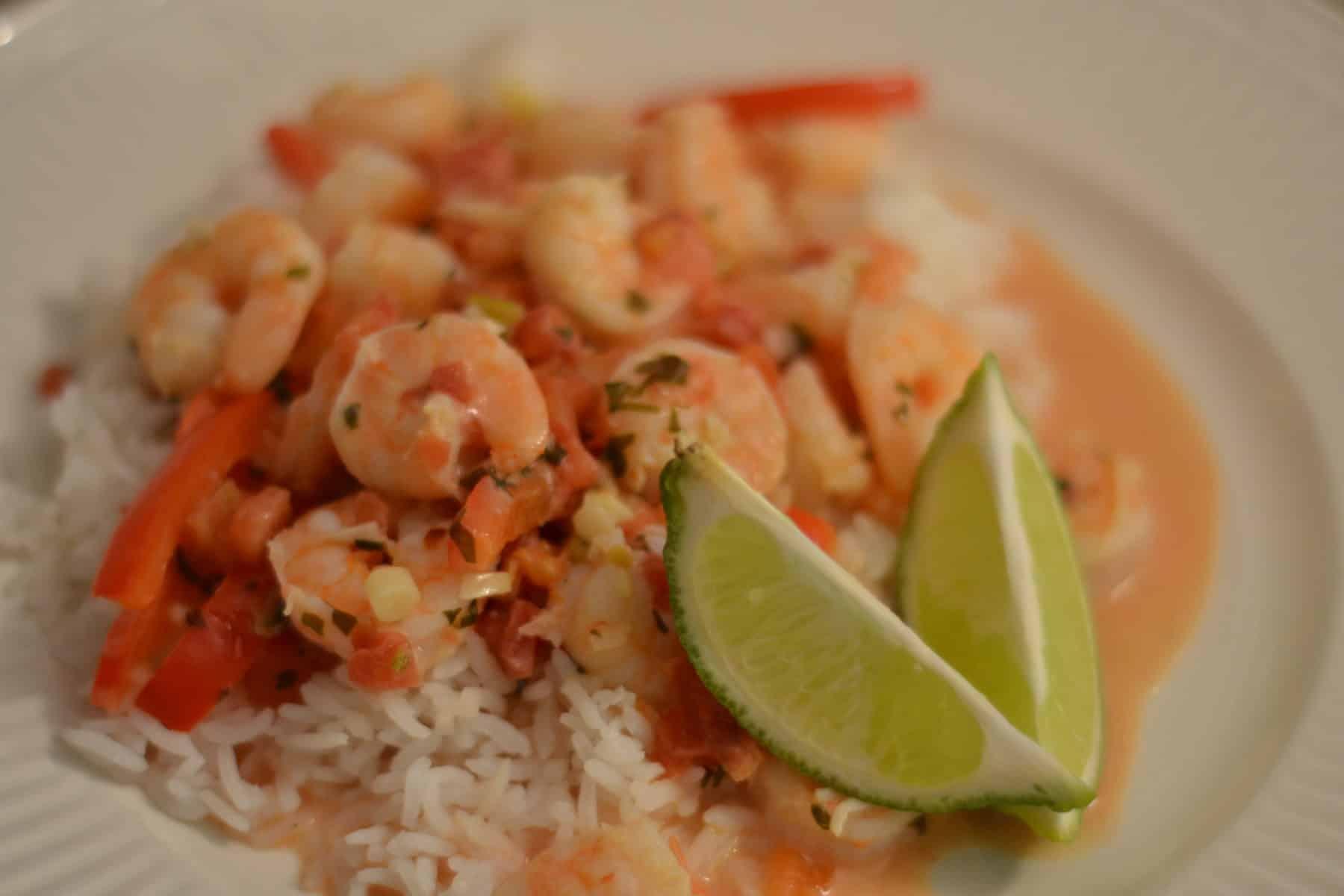 Spicy Coconut Shrimp Stew - Chew Nibble NoshChew Nibble Nosh