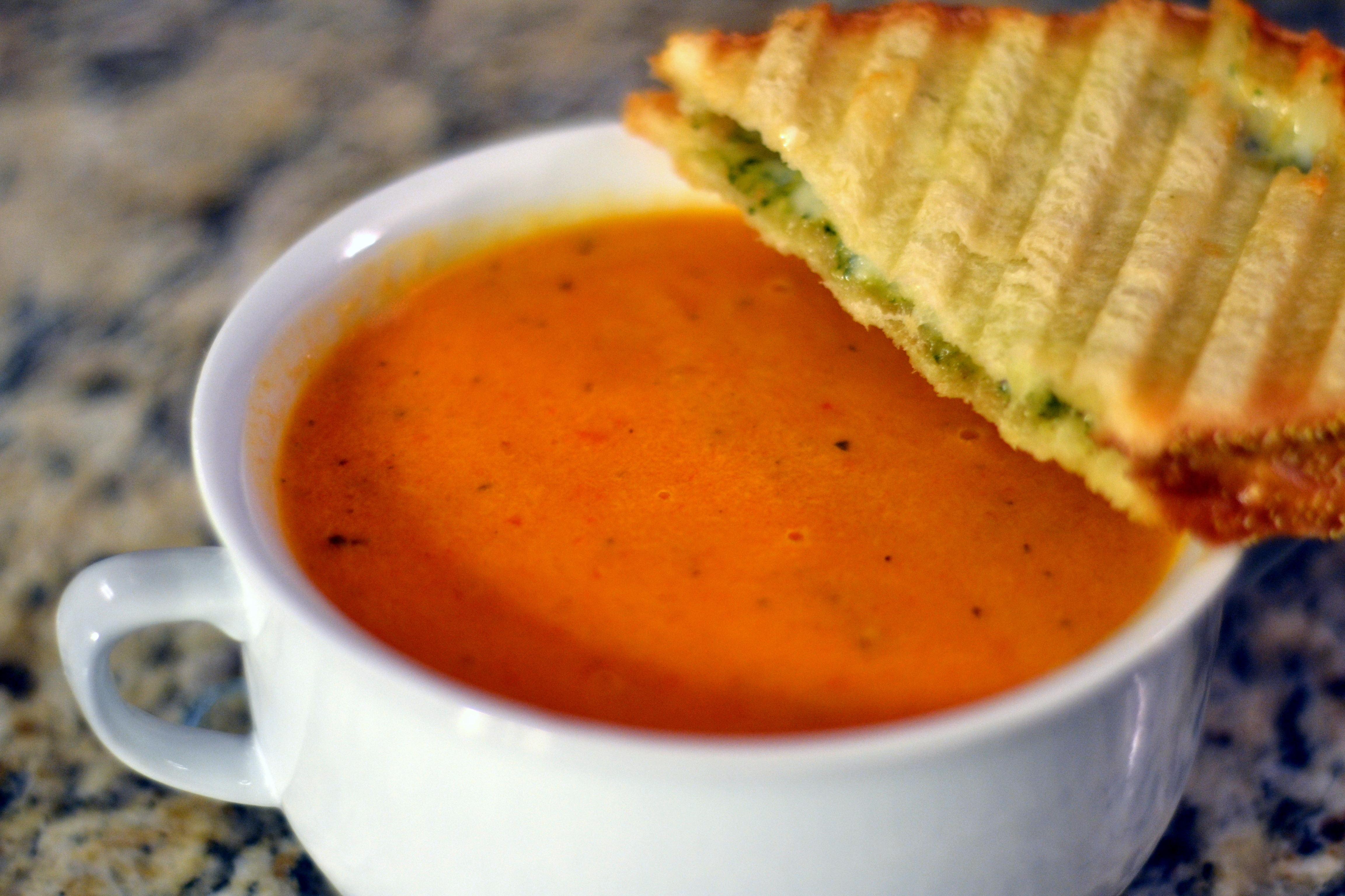 Cream Of Tomato Soup With Pesto Recipes — Dishmaps