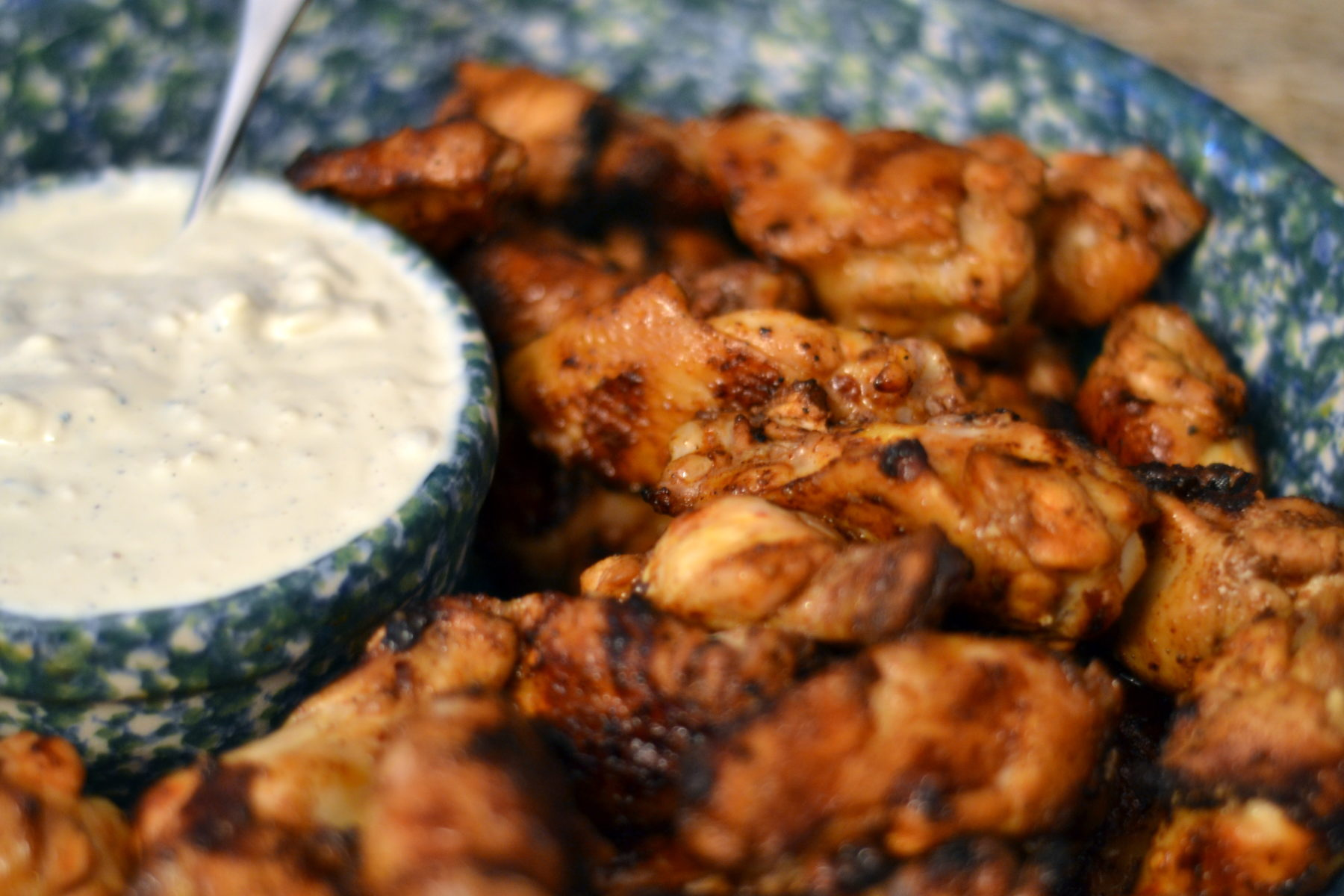 Game Day Week Recipe #2: Grilled Buffalo Wings and Blue Cheese Dip ...