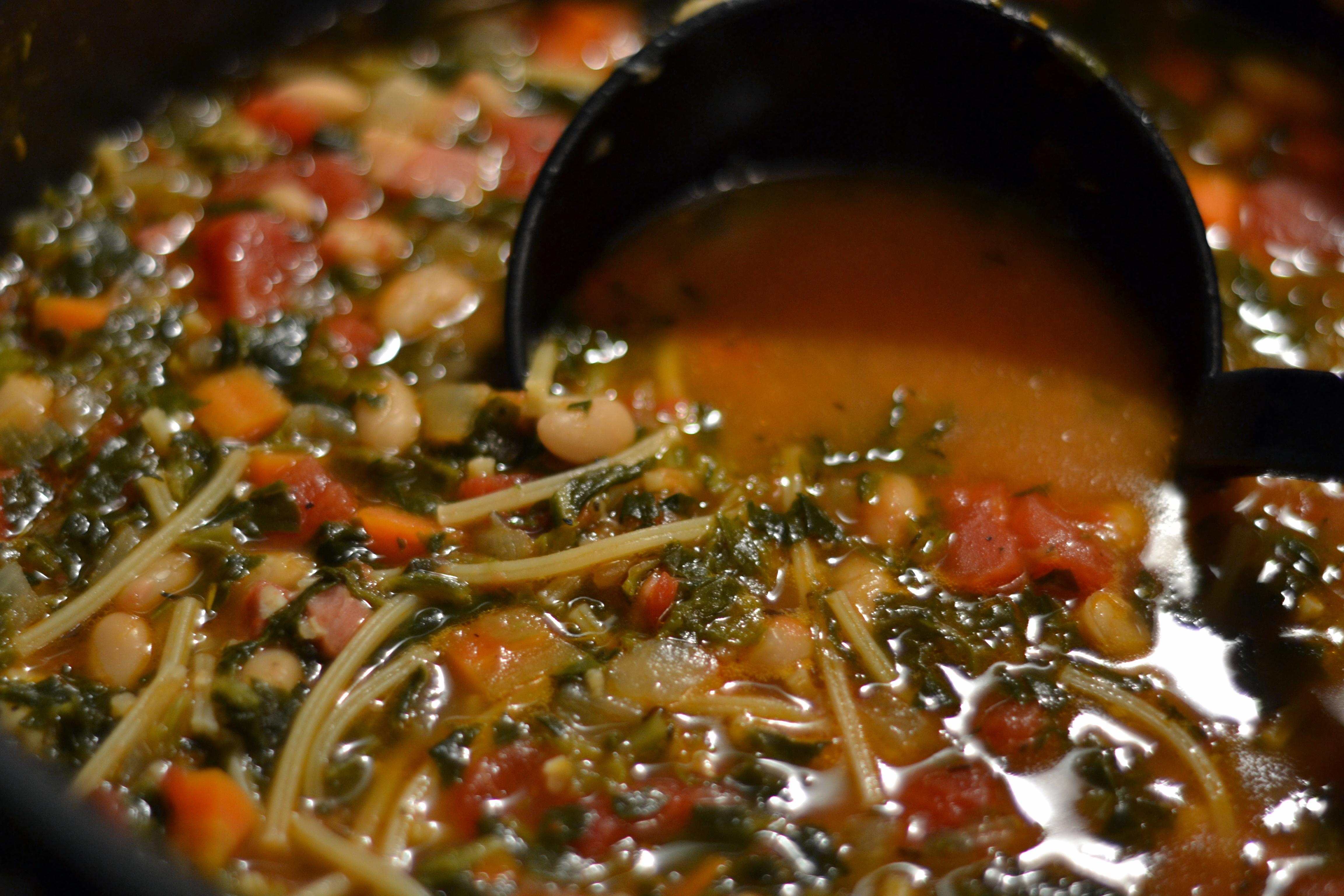 Ribollita with Spaghetti - Chew Nibble NoshChew Nibble Nosh