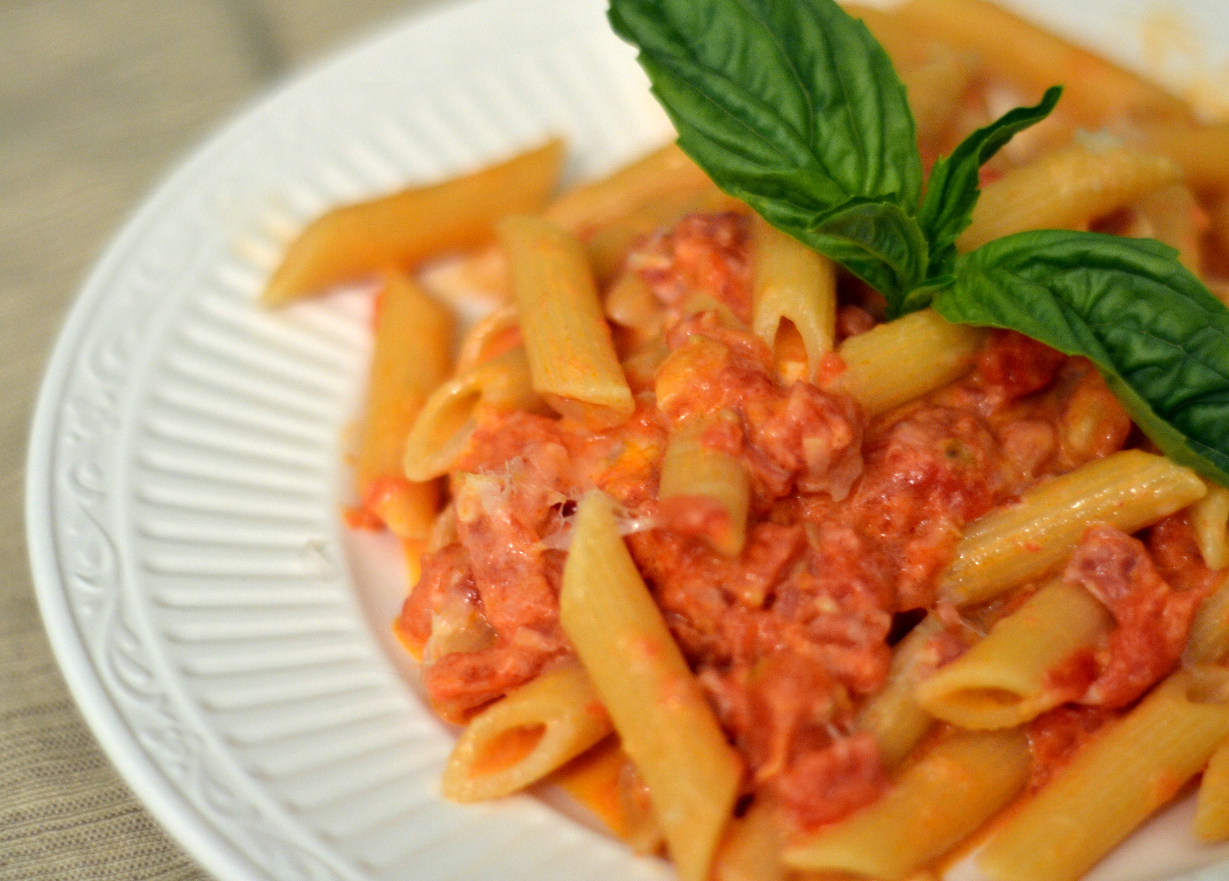Penne alla Vodka – Chew Nibble Nosh