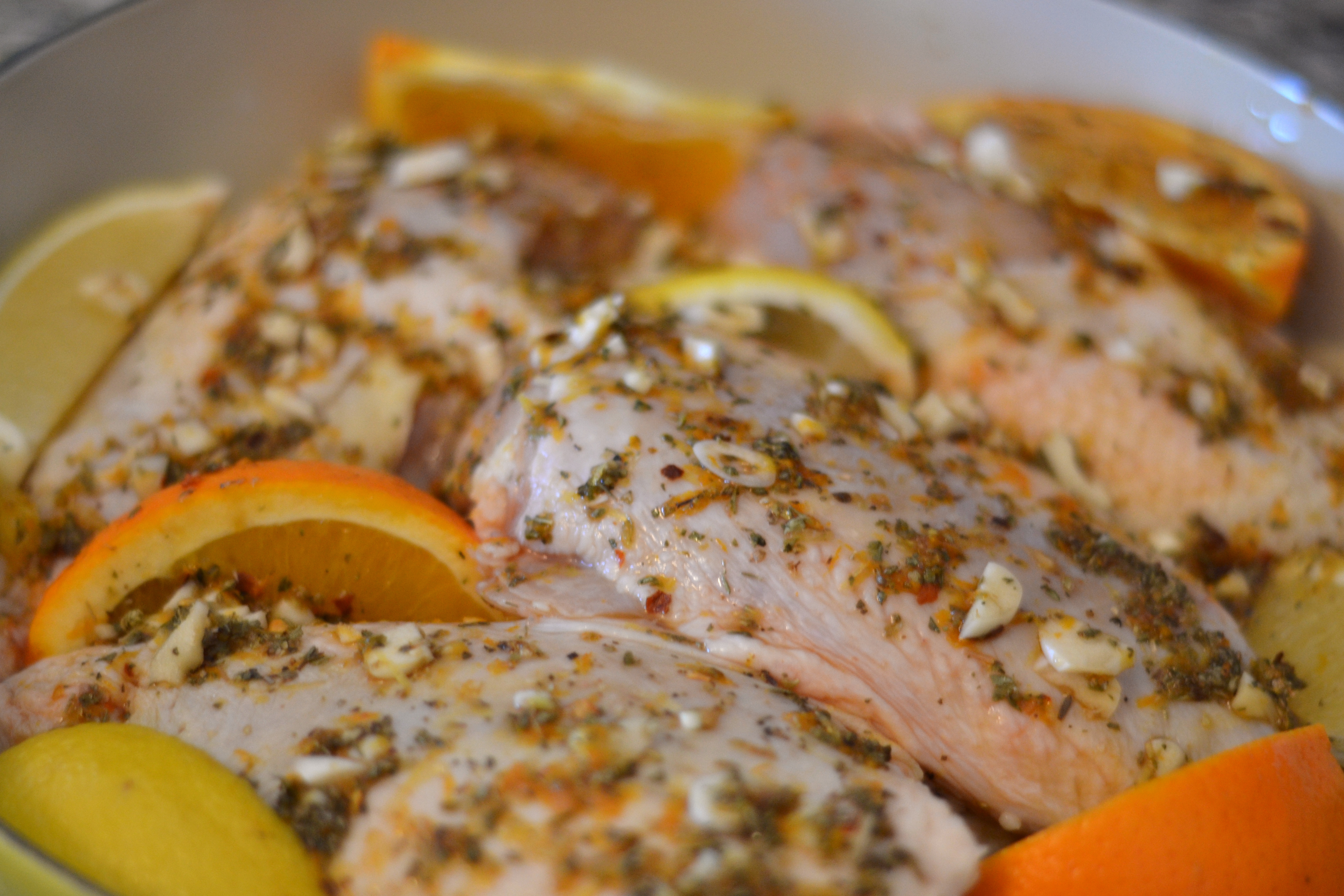 Citrus Marinated Roasted Chicken - Chew Nibble NoshChew Nibble Nosh