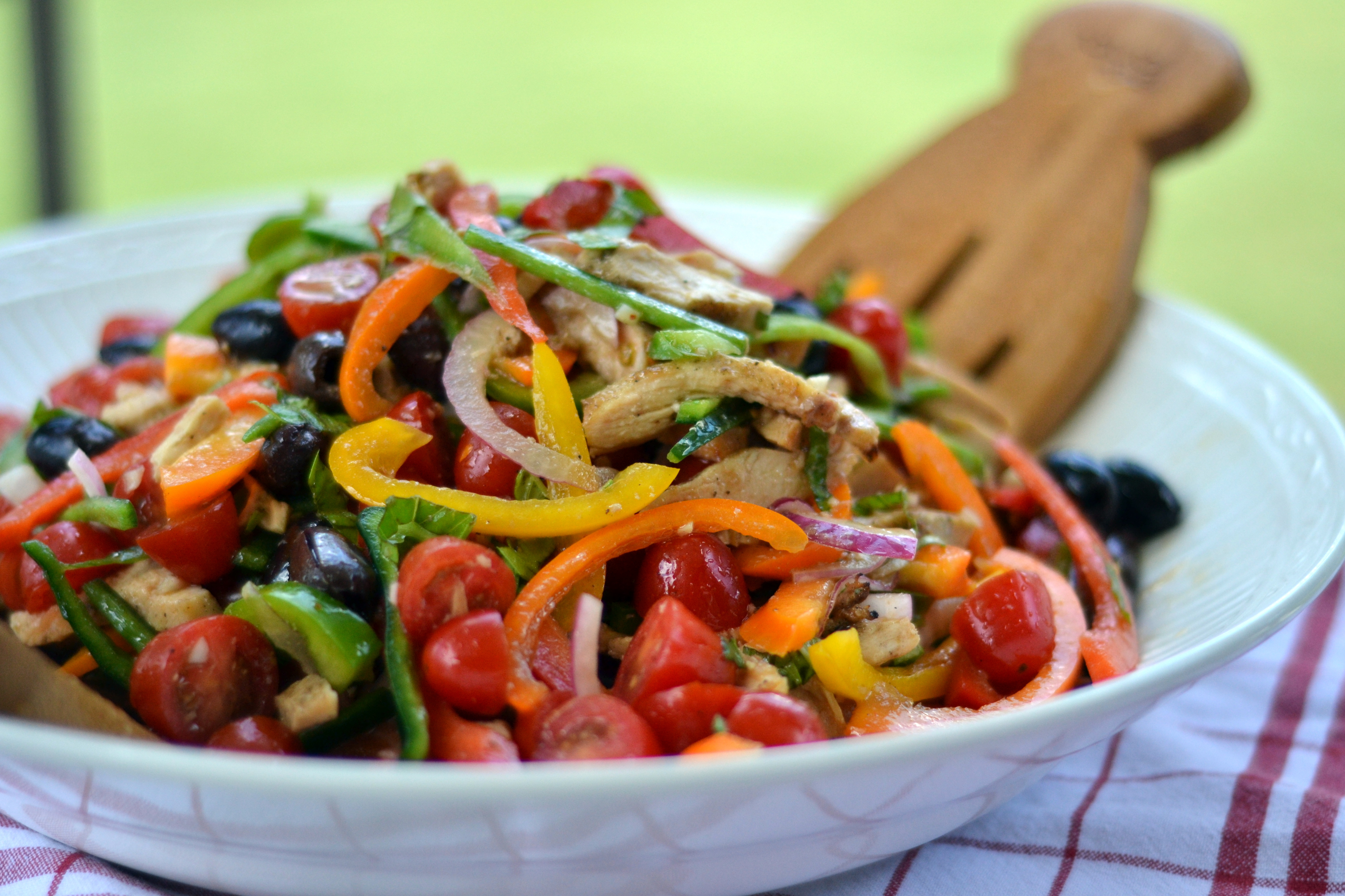 Tuscan Grilled Chicken & Pepper Salad - Chew Nibble NoshChew Nibble ...