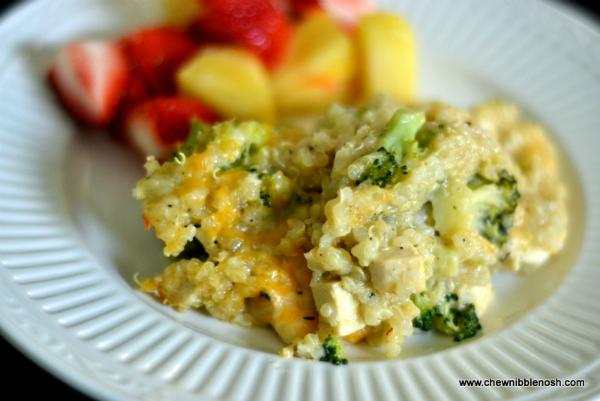 ... Soup Substitute & Cheesy Chicken and Broccoli Quinoa Casserole