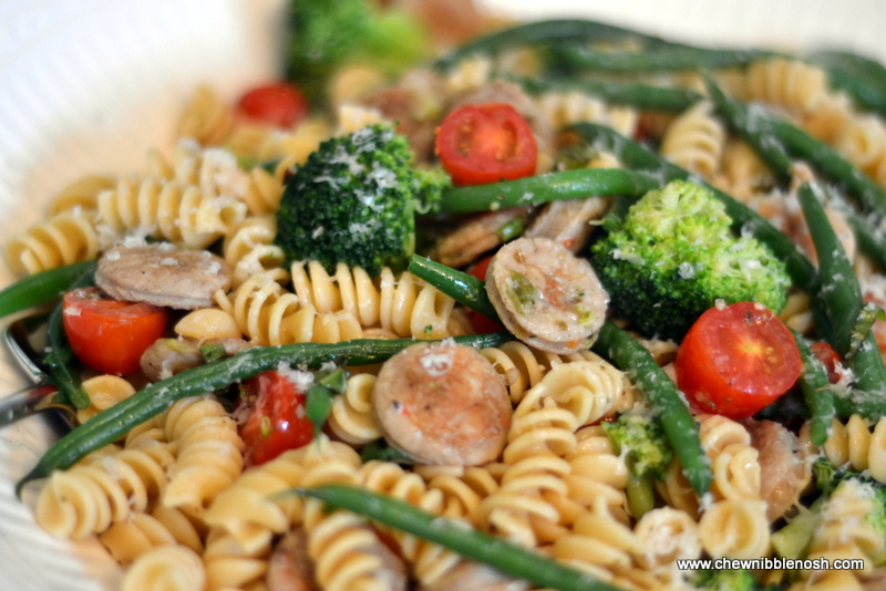 Rotini with Sauteed Chicken Sausage and Vegetables - Chew Nibble ...