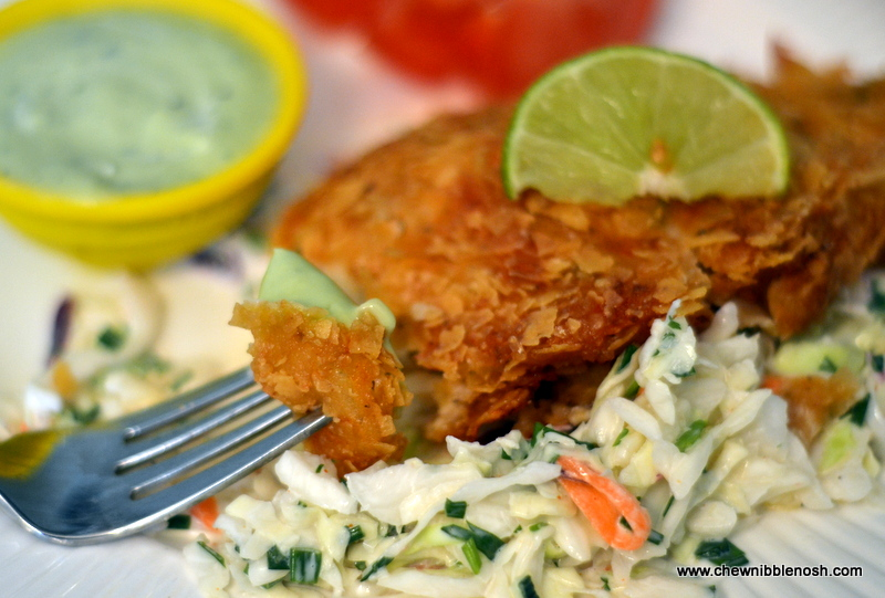 Crunchy Tortilla Chicken With Avocado Salsa Recipe — Dishmaps
