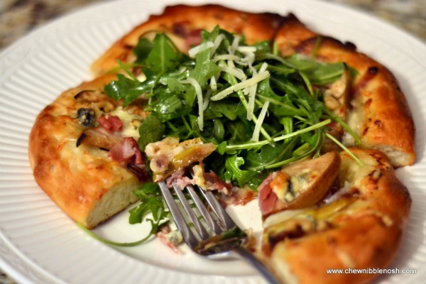 ... Pear, Proscuitto & Gorgonzola Pizza with Arugula SaladChew Nibble Nosh