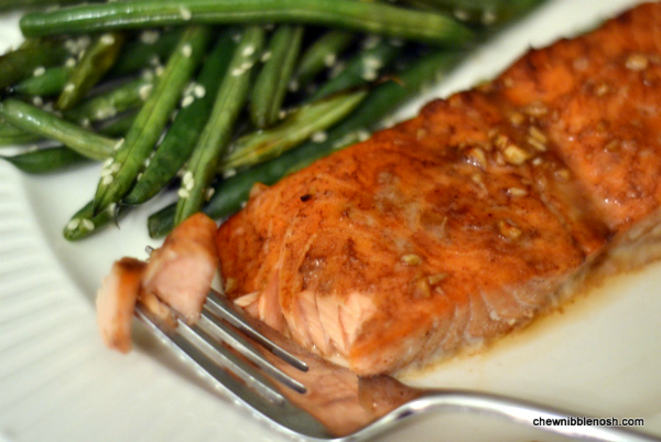 Five-Spice Glazed Salmon with Roasted Sesame Green Beans ...
