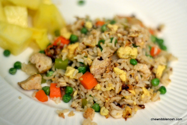 chicken fried rice chew nibble nosh - Christmas Rice