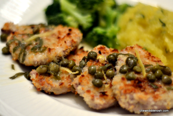 Pork Scaloppine with Lemon and Capers - Chew Nibble NoshChew Nibble ...