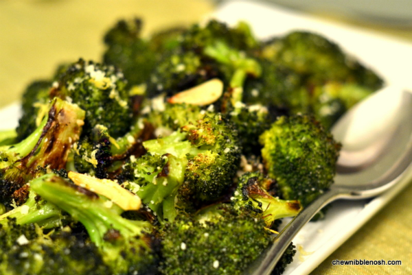 Roasted Broccoli with Lemon & Garlic - Chew Nibble NoshChew Nibble ...