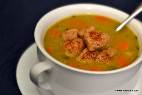 Split Pea Soup with Ham - Chew Nibble NoshChew Nibble Nosh