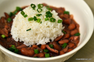 Slow Cooker Red Beans and Rice - Chew Nibble Nosh