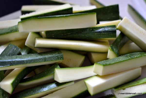 Crunchy Baked Zucchini Sticks 1 - Chew Nibble Nosh