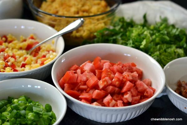 Southwestern Layered Salad 2 - Chew Nibble Nosh
