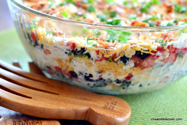 southwestern layered salad chew nibble nosh