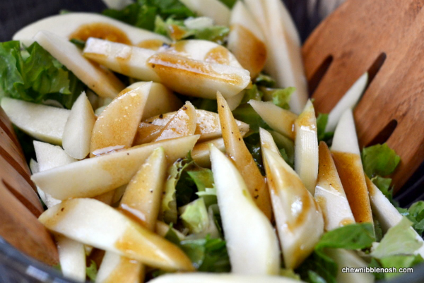 Roasted Butternut Squash Salad with Pears and Blue Cheese 3 - Chew Nibble Nosh