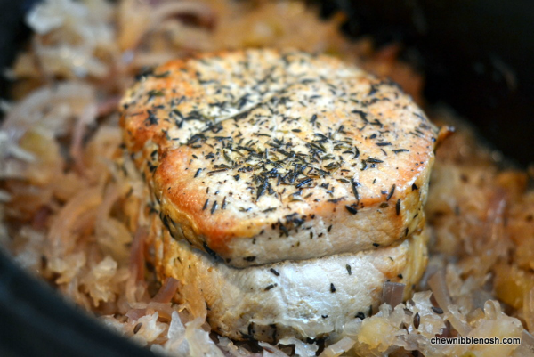 ... slow cooker german style pork roast with sauerkraut and potatoes pork