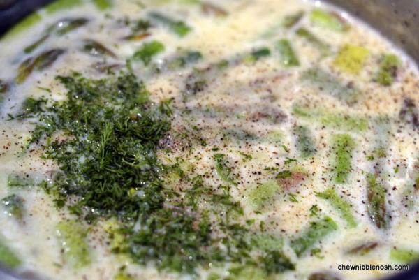 Asparagus and Potato Chowder 5 - Chew Nibble Nosh