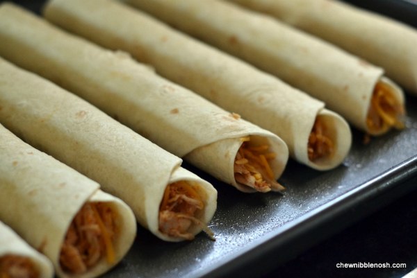 Baked Honey Lime Chicken Taquitos with Cilantro Lime Cream 3 - Chew Nibble Nosh