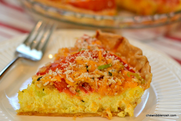 Tomato and Corn Custard Pie - Chew Nibble NoshChew Nibble Nosh