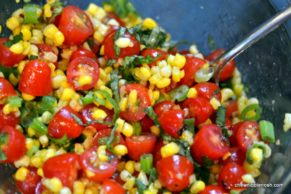 ... with Tomato, Basil and Roasted Corn Relish 4 - Chew Nibble Nosh