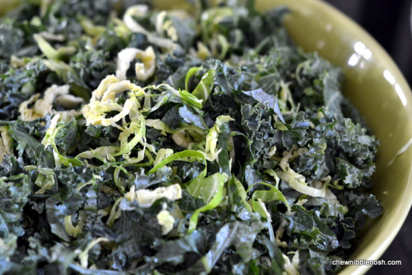 Kale and Brussels Sprouts Salad 1 - Chew Nibble Nosh