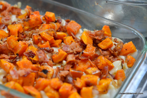 Roasted Butternut Squash and Bacon Pasta 4 - Chew Nibble Nosh