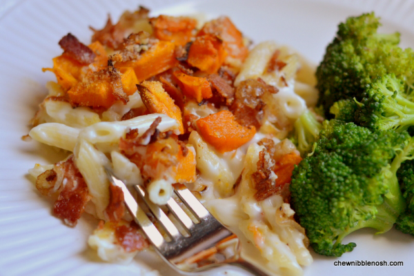 Roasted Butternut Squash and Bacon Pasta 6 - Chew Nibble Nosh