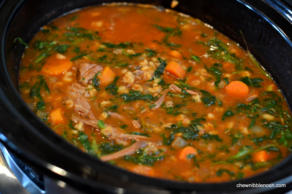 Slow Cooker Beef and Barley Soup with Rosemary 6 - Chew Nibble Nosh
