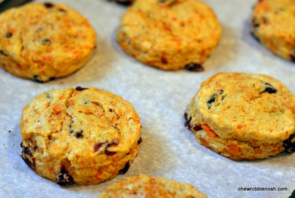 Sweet Potato and Cranberry Scones with Brown Sugar Icing - Chew Nibble Nosh 5