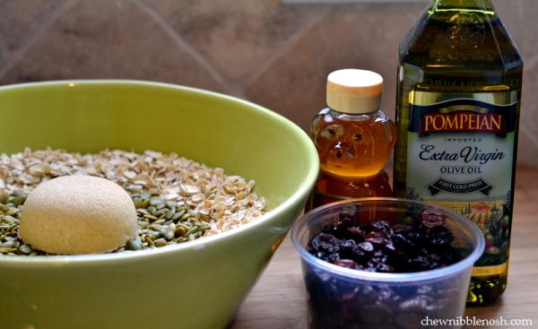 Chocolate Cherry Olive Oil Granola - Chew Nibble Nosh 1
