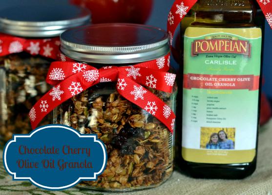 Chocolate Cherry Olive Oil Granola - Chew Nibble Nosh