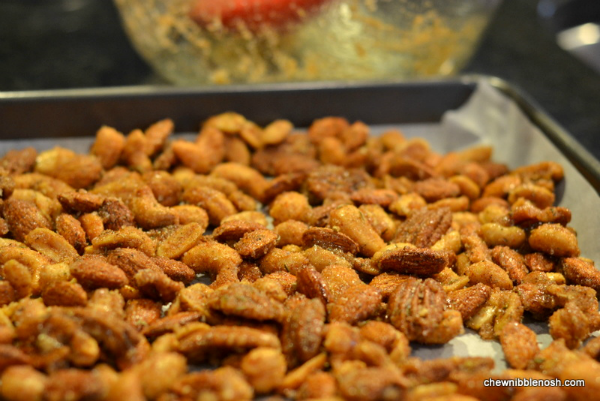 Sweet & Savory Spiced Nuts - Chew Nibble Nosh 4