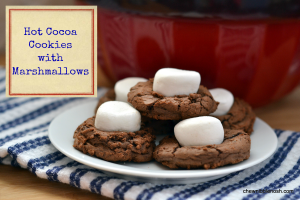Hot Cocoa Cookies with Marshmallows - Chew Nibble Nosh 5
