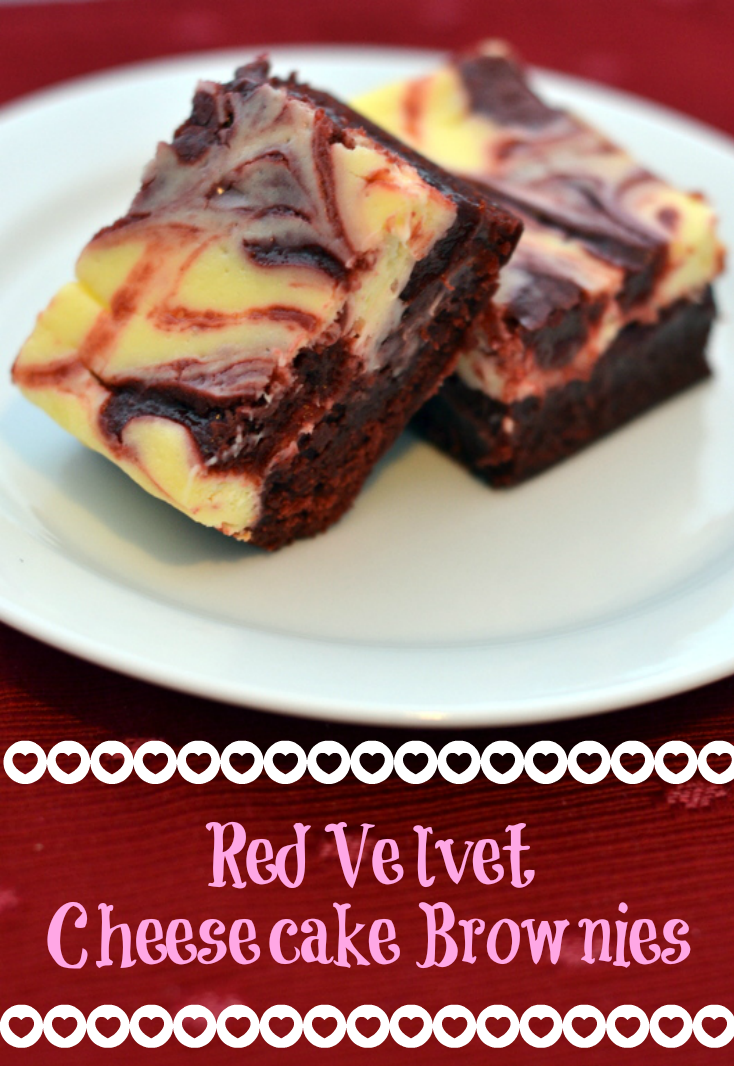Red Velvet Cheesecake Brownies - Chew Nibble Nosh.