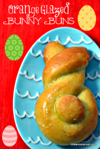 Orange Glazed Bunny Buns - Chew Nibble Nosh