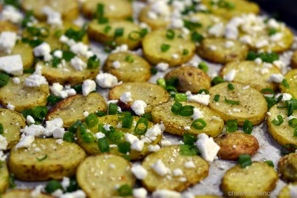 Steak Tips and Roasted Feta Potatoes - Chew Nibble Nosh 3
