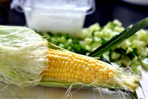 Chilled Summer Veggie Salad - Chew Nibble Nosh 1