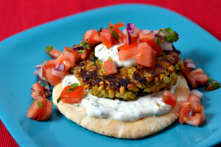 Middle Eastern Chickpea Burgers - Chew Nibble Nosh