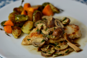Chicken Marsala on the Lighter Side - Chew Nibble Nosh