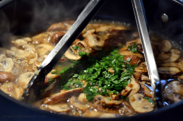 Chicken Marsala on the Lighter Side - Chew Nibble Nosh 5