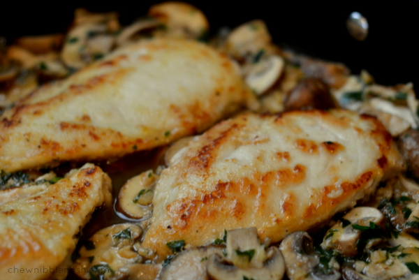 Chicken Marsala on the Lighter Side - Chew Nibble Nosh 6