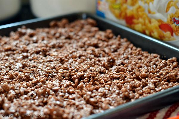 Chocolate Peanut Butter Crunch Ice Cream CakeChew Nibble Nosh