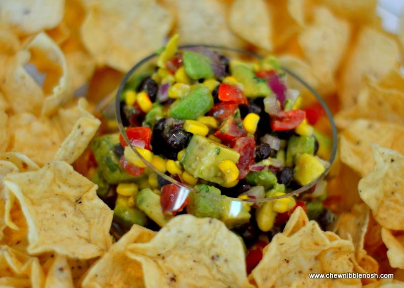 Black Bean, Corn and Avocado Salsa - Chew Nibble Nosh