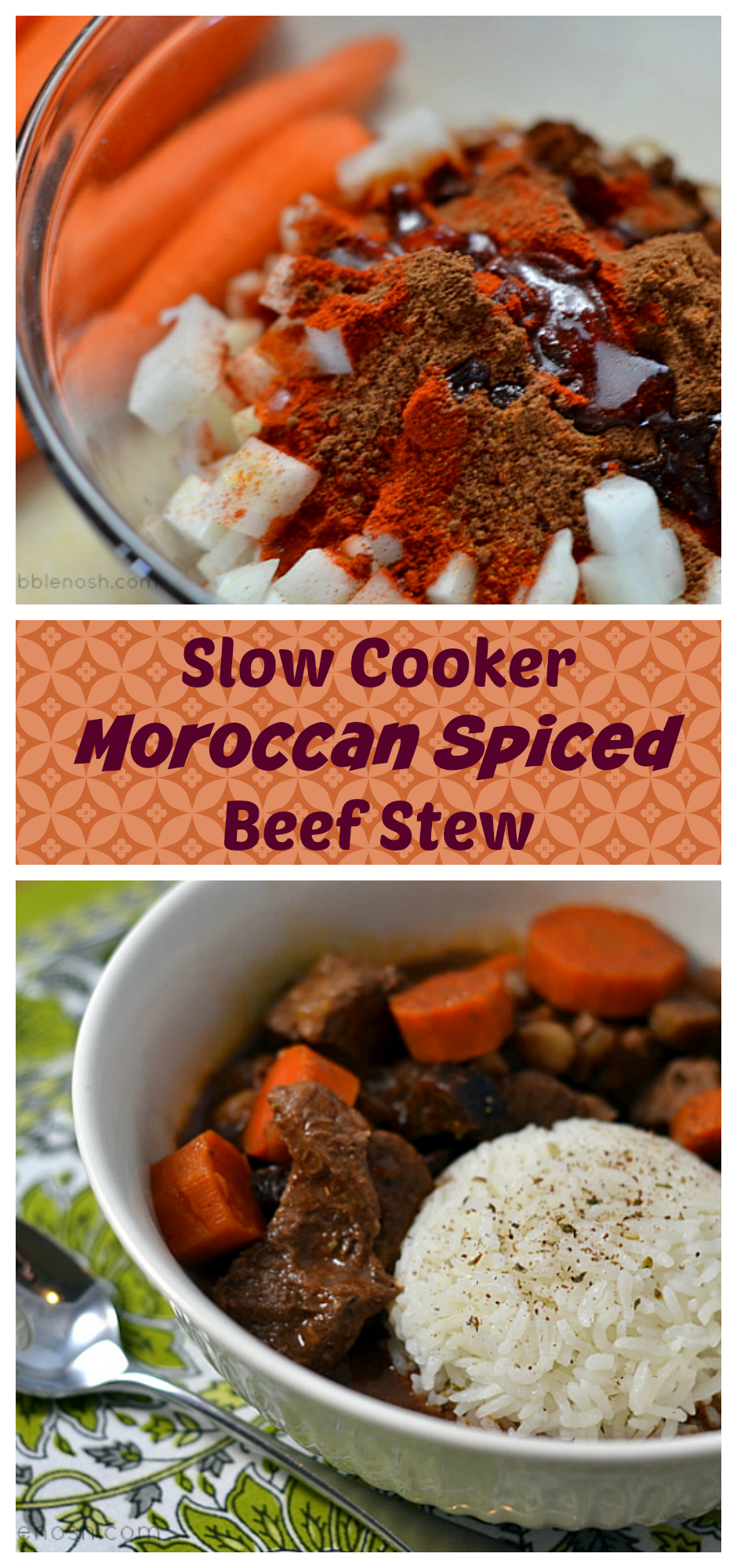 This Slow Cooker Moroccan-Spiced Beef Stew will warm up even your chilliest fall night. Find the recipe at Chew Nibble Nosh.