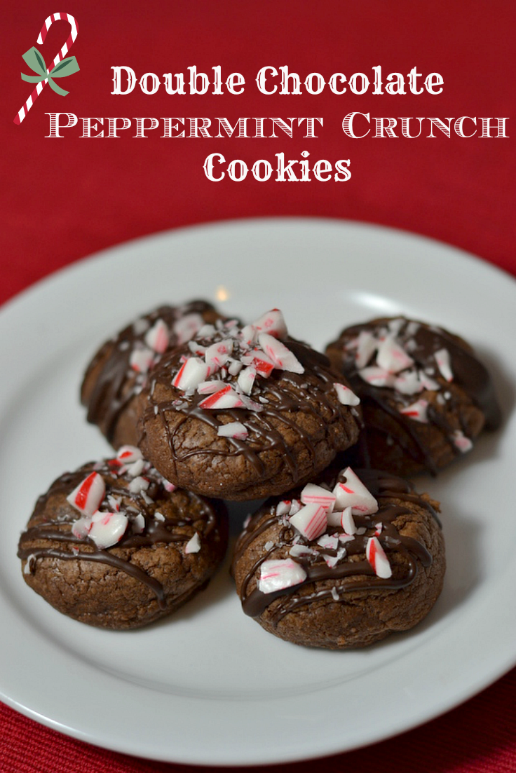 Double Chocolate Peppermint Crunch Cookies – The Great Food Blogger ...