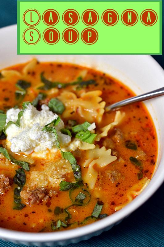 Lasagna Soup - Chew Nibble Nosh