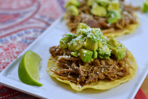 Slow Cooker Honey-Balsamic Pulled Pork with Avocado Relish - Chew Nibble Nosh