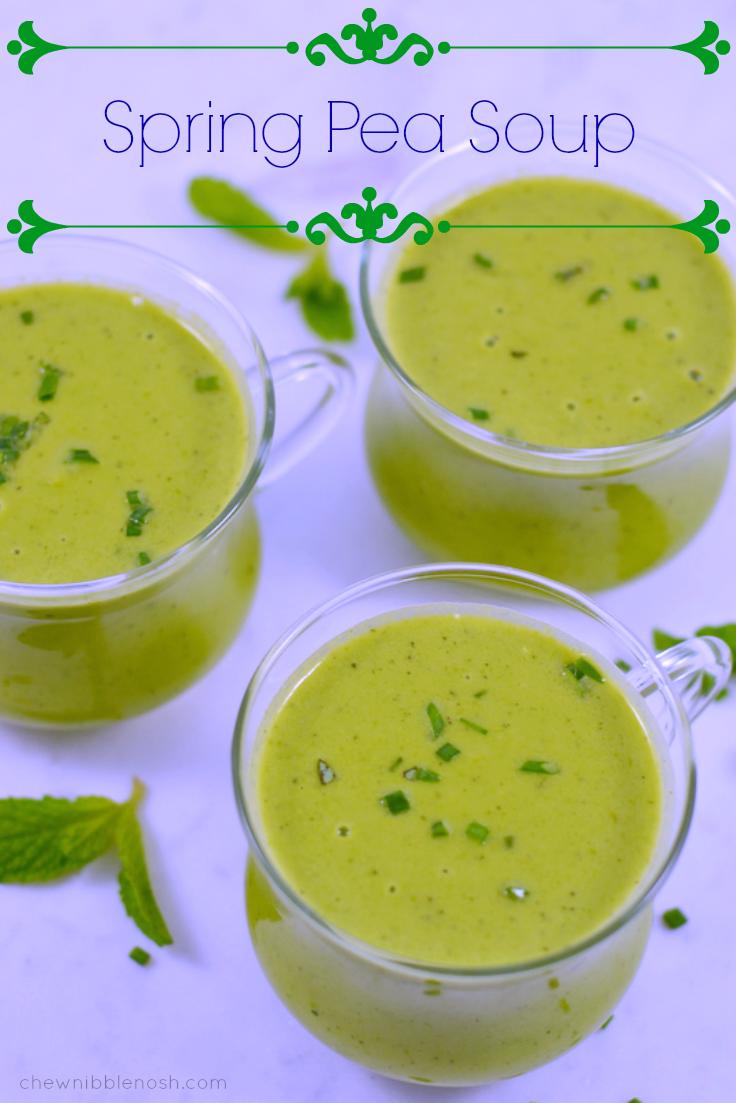 Spring Pea Soup - Chew Nibble Nosh